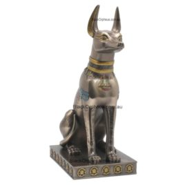 Statue Egyptian Anubis Sitting H31cm.