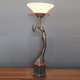 Art Deco Up Light Table Lamp H106cm