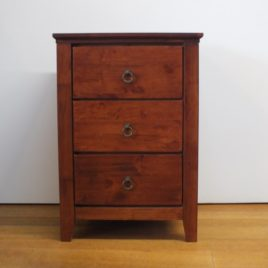 Bally Bedside Antique Oak 65cm.
