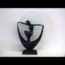 Art Deco Lamp Lady with Large Scarf H42cm.