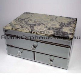Mirrored Jewellery Box Glitzy