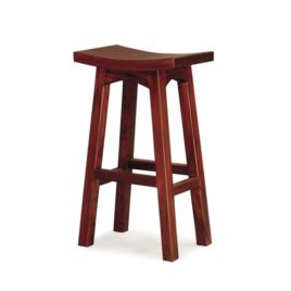 Showa Solid Mahogany Timber 77cm Bar Stool Mahogany