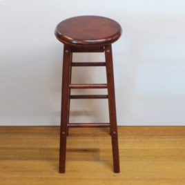 Wood stool Swivel H74cm
