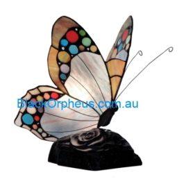 Leadlight Lamp, Butterfly, Blue