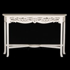 Console Table J Side Large White. W.120.