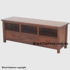 Monaco 3 Drawer Entertainment Unit Mahogany