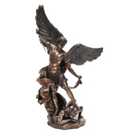 Saint Michael. Stepping on Demon