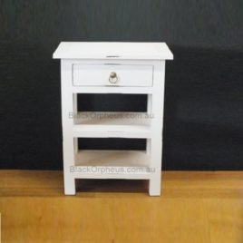 Small Timber Table, Distressed White.