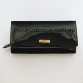 Black Leather Wallet Large
