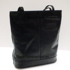 Oran Leather Tote Bag Black