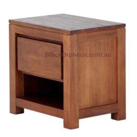 Bedside Hidden Handle 1 Drawer BS 001 TA LP