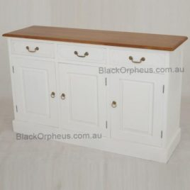 Buffet 3 Door 3 Drawer White 2 Tone Timber Finish