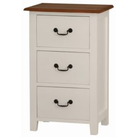 Bedside Timber 3 Drawer White