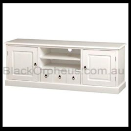 Entertainment Unit 2 Door 3 Drawer White