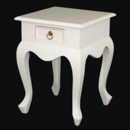 Lamp Table Cabriole Leg White