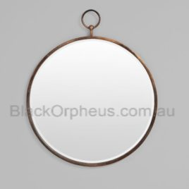 Round Mirror Antique Fob