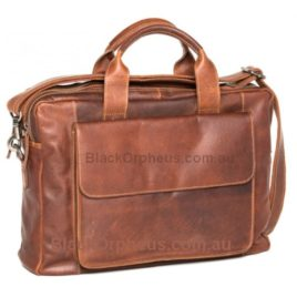 Leather Briefcase Brandy Turku