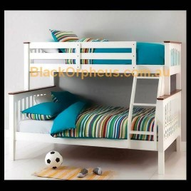 Sarah Bunk Bed Single Double White