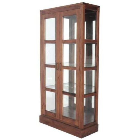 paris glass display cabinet black orpheus. Black Bedroom Furniture Sets. Home Design Ideas