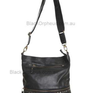 Barcelona Leather Shoulder Bag Cadelle Leather Woven Satchel