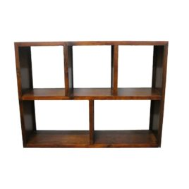 Cube Timber Bookcase Small H 91cm