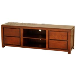 Low 4 drawer TV Cabinet Light