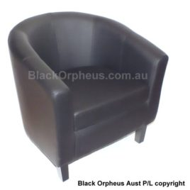 TUB CHAIR BLACK PU LEATHER MAX