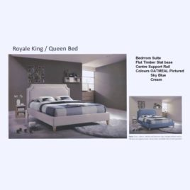 Royal Queen Bed Linen Bedhead Linen Cover Frame