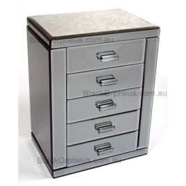 Large Mirrored Jewellery Box with Drawers